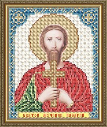 """Рисунок на ткани для вышивания бисером """"Святой Мученик Назарий"""", фото 2"""