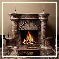 Портал CASTELLO, облицювання каміна натуральним каменем мармур: купити у виробника., фото 1