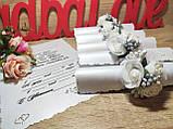 Пригласительные на свадьбу в свитках Изысканность. Белые с серебром., фото 2