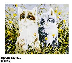 Картина по номерам Котята