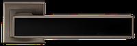 A-2015 MA+BLACK РУЧКА ДЛЯ ДВЕРЕЙ НА РОЗЕТЦІ(Матовий антрацит з чорною вставкою)