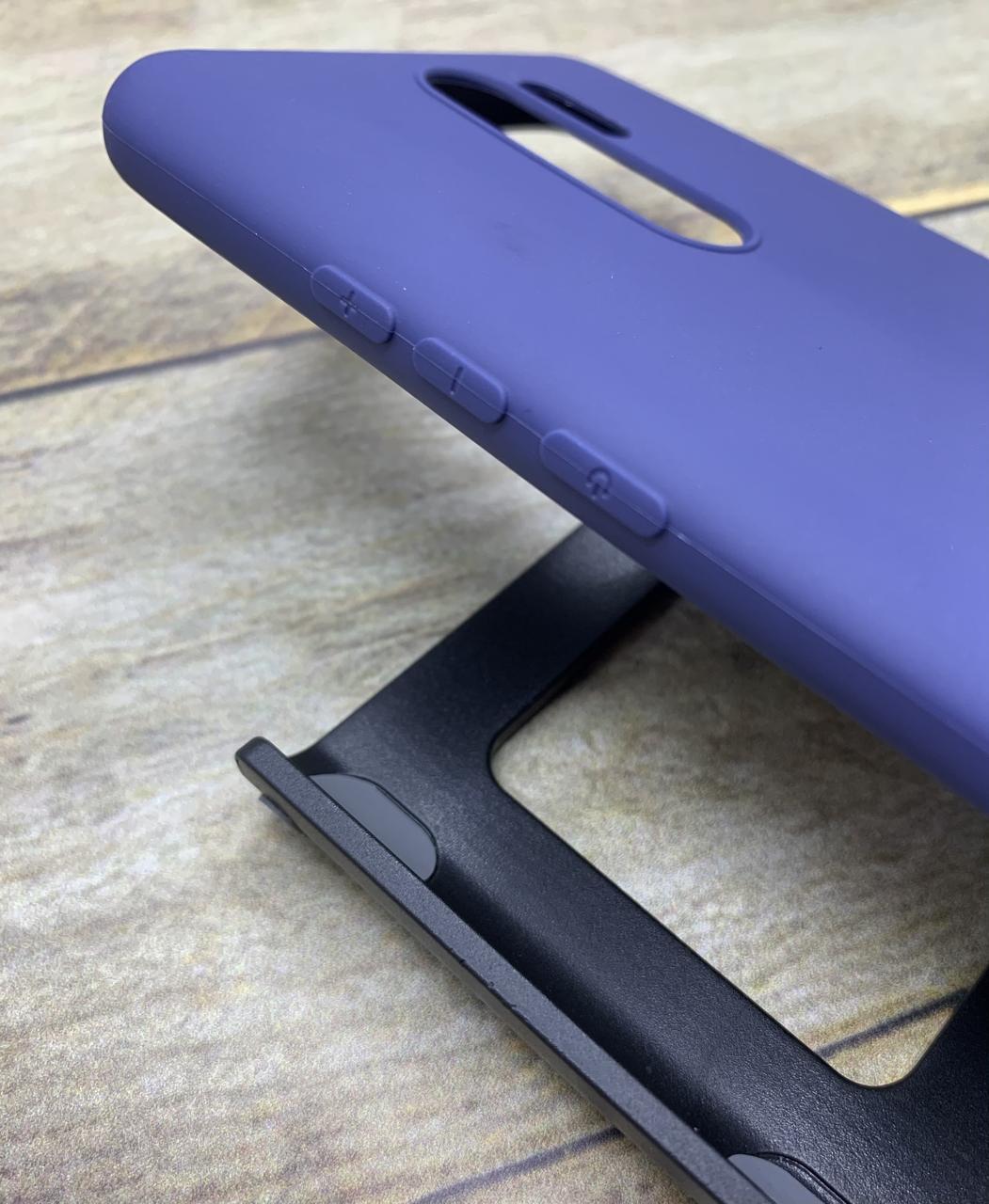 Чехол для Xiaomi Redmi 9 бампер/ накладка/ цветной/ силиконовый/ матовый/ синий