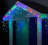 Электрическая гирлянда Штора Дождик РУБИН 200 LED 5 м * 0.5 м, мульти, фото 2