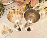 Два высоких посеребренных бокала, серебрение по латуни, Англия, ручная гравировка, фото 7