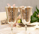 Два высоких посеребренных бокала, серебрение по латуни, Англия, ручная гравировка, фото 3