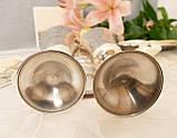 Два высоких посеребренных бокала, серебрение по латуни, Англия, ручная гравировка, фото 9