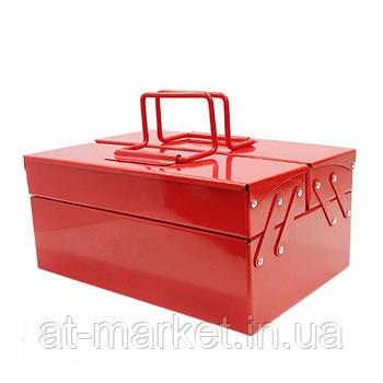 Ящик для інструменту металевий 340мм 3 відсіку (ХЗСО) MTB340-3