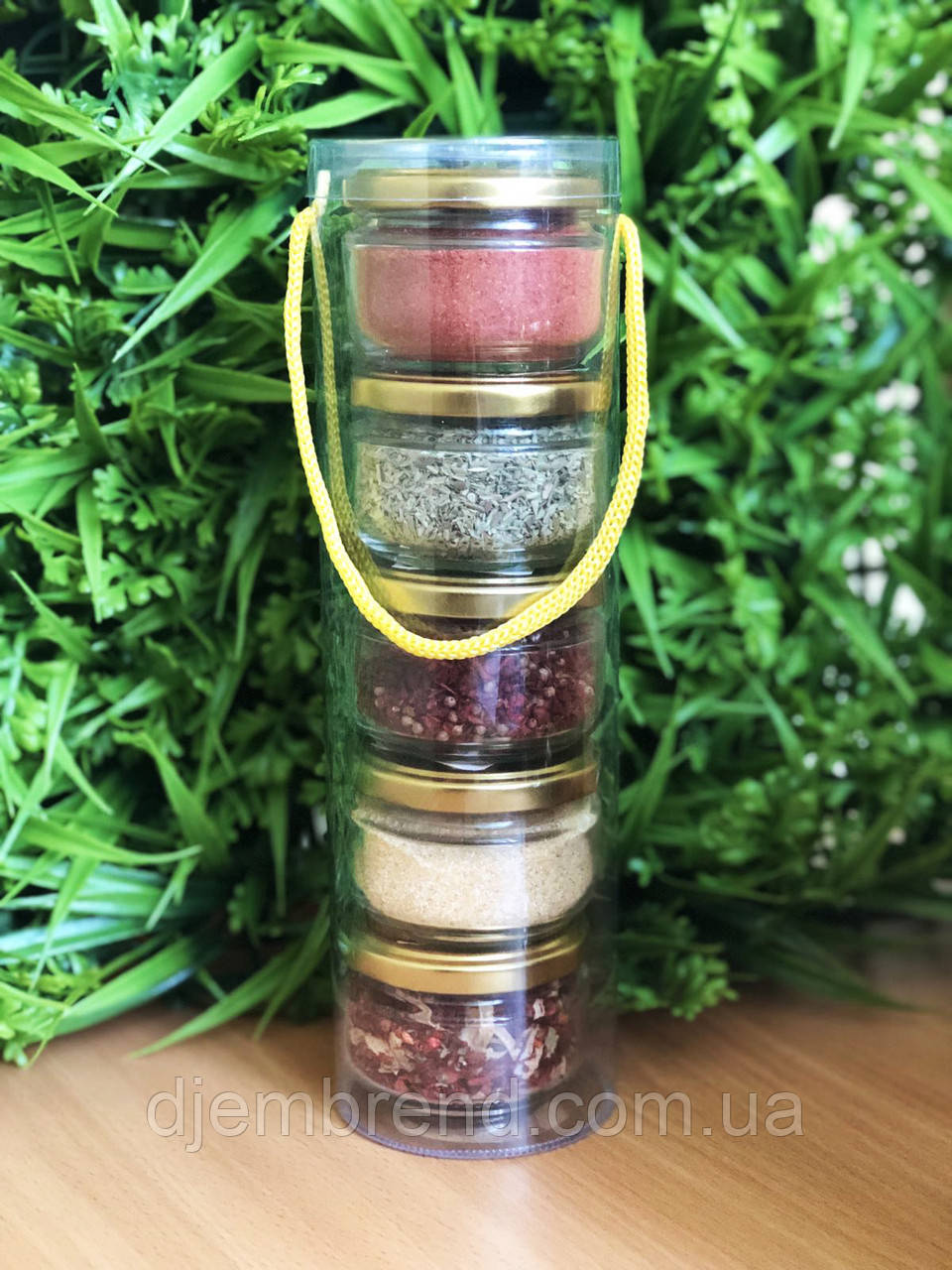 Подарунковий набір спецій : орегано, сванская сіль, для шашлику, часник, для перших страв
