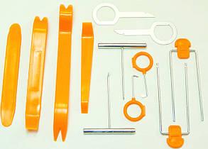 Комплект инструментов для снятия панелей салона ZIRY HF-007 12 pcs orange plastic-metal