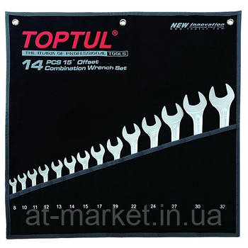 Набор ключей комбинированных 14 шт 8-32 мм TOPTUL Hi-Performance GPAX1401