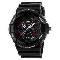 Skmei 0966 черные мужские спортивные часы, фото 1