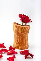 Деревянная ваза, ваза ручной работы,, фото 1
