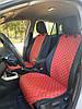 Накидки из эко-кожи (передние) на сиденья Peugeot 407 2004-2010, фото 2