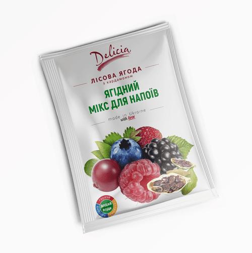 Чай концентрат Лесные ягоды с кардамоном Delicia 50г