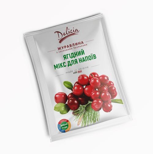 Чай концентрат Клюква с сосновыми почками Delicia 50г