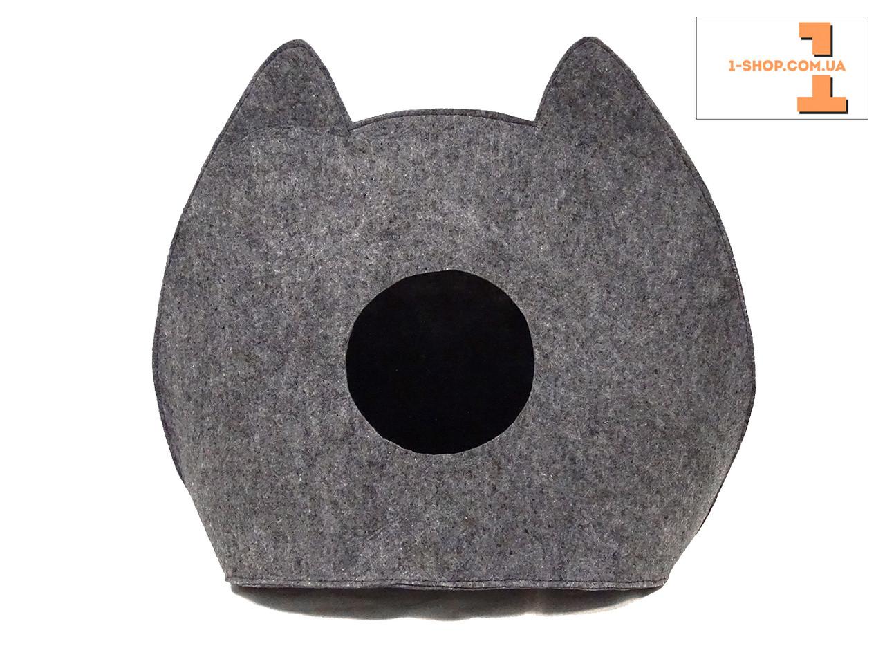 """Домик-лежак """"ушки"""" для кошек и собак (полушерсть)."""