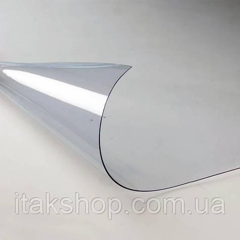Скатерть мягкое стекло для стола и мебели Soft Glass (1.3х1.4м) толщина 0.4 мм Прозрачная, фото 2