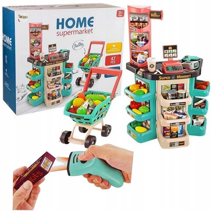 Детский игровой супермаркет с тележкой