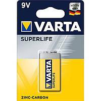 Батарейка VARTA SUPERLIFE 6F22 BLI 1 ZINC-CARBON (2022)