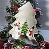 Фігурне новорічна страва з кераміки Веселі сніговики 23*26 см