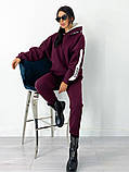 Теплый  спортивный костюм трехнить на флисе батник и штаны размер: 42-44, 46-48,50-52, фото 3