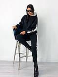 Теплый  спортивный костюм трехнить на флисе батник и штаны размер: 42-44, 46-48,50-52, фото 4