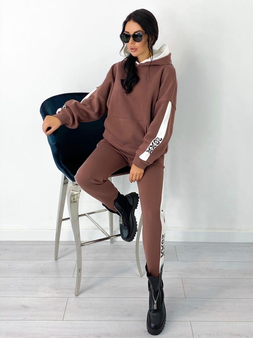 Теплый  спортивный костюм трехнить на флисе батник и штаны размер: 42-44, 46-48,50-52