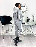Теплый  спортивный костюм трехнить на флисе батник и штаны размер: 42-44, 46-48,50-52, фото 7