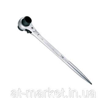Ключ трещоточный силовой с двойной головкой TOPTUL  14x17мм AEAH1417