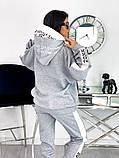 Теплый  спортивный костюм трехнить на флисе батник и штаны размер: 42-44, 46-48,50-52, фото 6