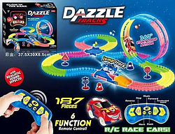 Автотрек светящийся ,Гибкий на Радиоуправлении Dazzle Tracks 187 деталей