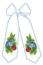 БН-04. Бант новорічний під вишивку бісером та нитками.