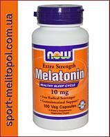 NOW Melatonin 10 мг Extra Strength 100 капс.