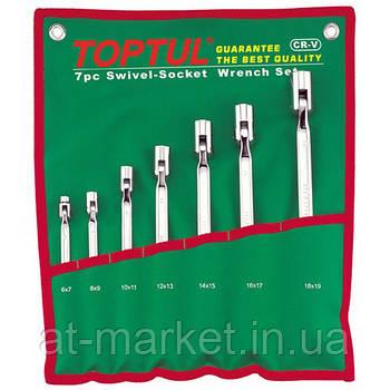 Набор шарнирных ключей колокольчиков TOPTUL 7 шт. 6-19 мм GAAA0704