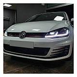 Передние фары фонари оптика LED GTI Volkswagen VW Golf 7 VII Гольф, фото 6
