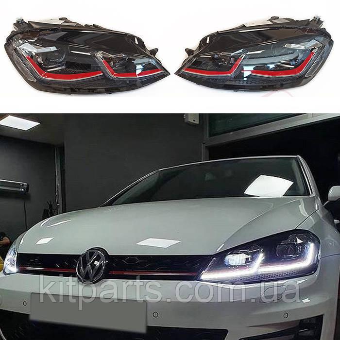 Передние фары фонари оптика LED GTI Volkswagen VW Golf 7 VII Гольф