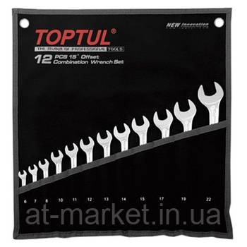 Набор рожково-накидных ключей TOPTUL 12 шт. 6-22 Hi-Performance GPAX1202