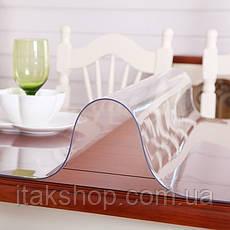 Скатерть мягкое стекло для стола и мебели Soft Glass (2.0х1.4м) толщина 0.4 мм Прозрачная, фото 2