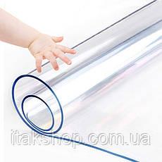 Скатерть мягкое стекло для стола и мебели Soft Glass (2.0х1.4м) толщина 0.4 мм Прозрачная, фото 3
