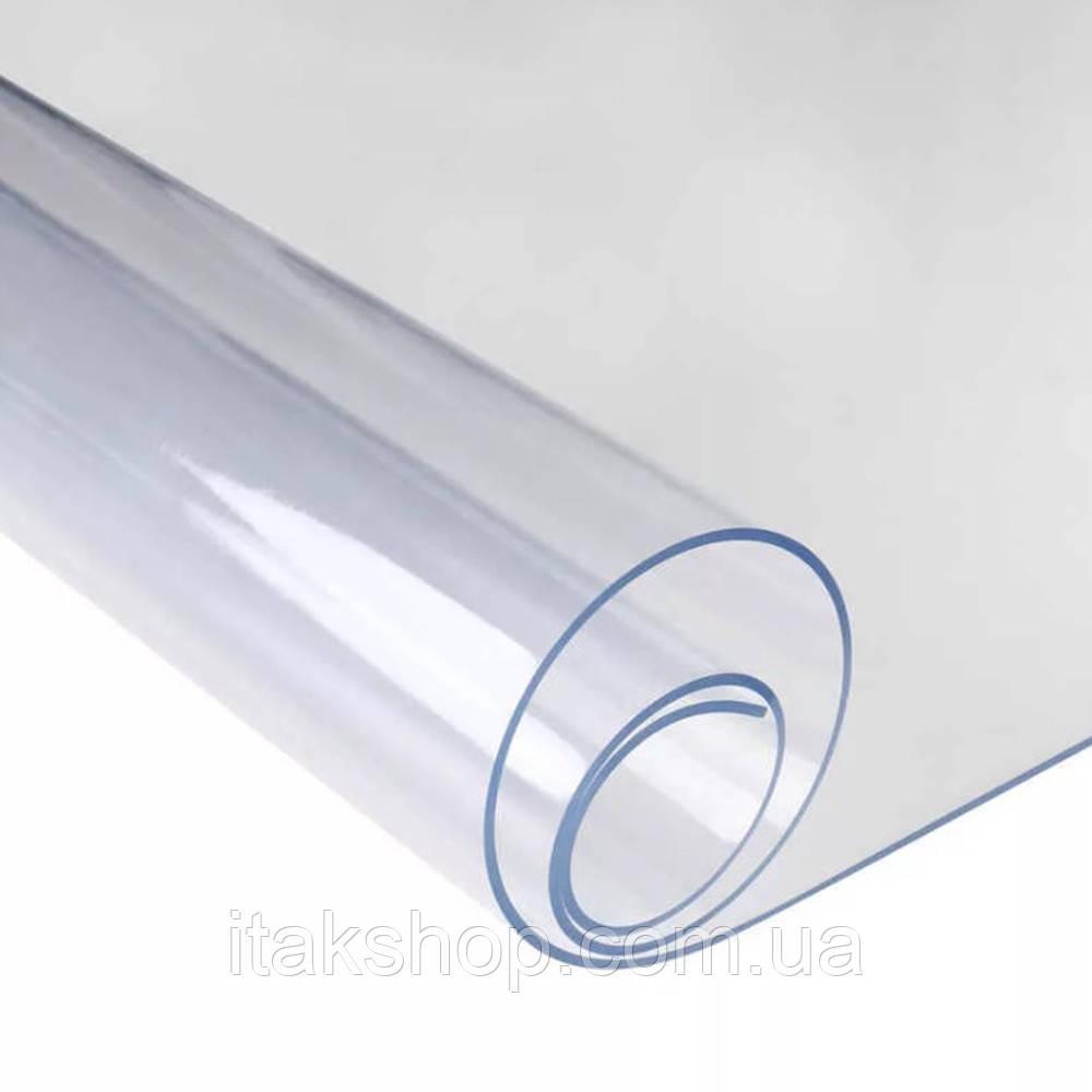 Скатерть мягкое стекло для стола и мебели Soft Glass (2.0х1.4м) толщина 0.4 мм Прозрачная