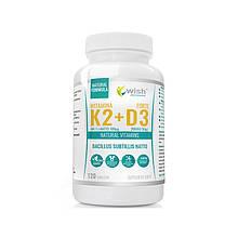 Вітаміни Vitamin K2 MK-7 100mcg + D3 2000IU 50mcg 120 tabs, Wish