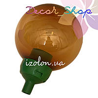 Основание с переходником на трубу D20мм, под плафон,Зелёный. ТМ Un + Рассеиватель UFP-200 бронзовый