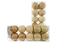 Гирлянда тайские шарики Autunno Cotton Balls 10led, диам 6см, длина 235см на батарейках АА