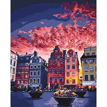 Картина по номерам 40×50 см. Идейка (без коробки) Каникулы в Стокгольме (КНО 3558)