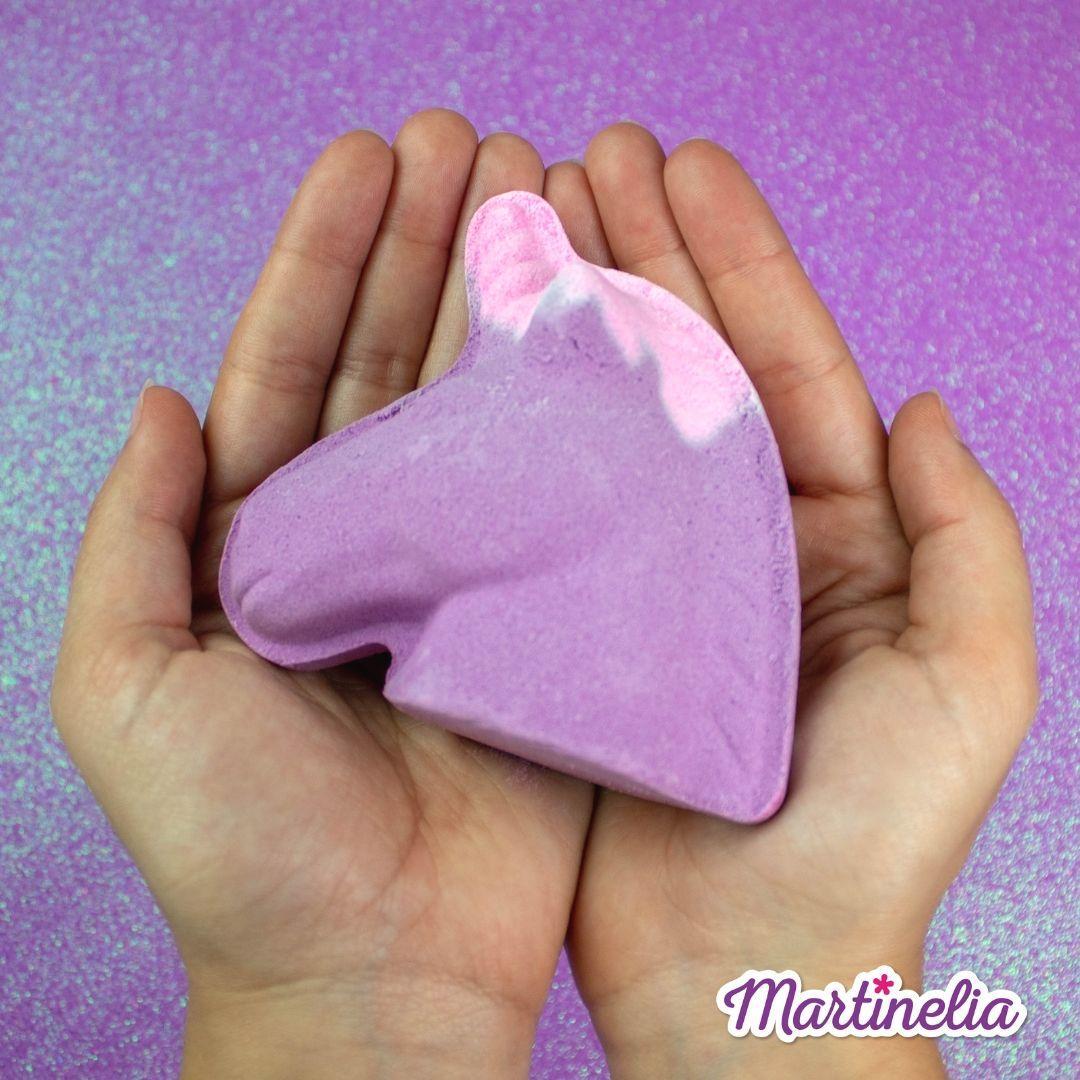 Бомбочка для ванни мрії єдинорога магічна фіолетова Martinelia (98210)
