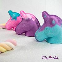 Бомбочка для ванни мрії єдинорога магічна фіолетова Martinelia (98210), фото 4