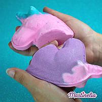 Бомбочка для ванни мрії єдинорога магічна фіолетова Martinelia (98210), фото 6