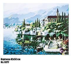 Картина по номерам Город на реке