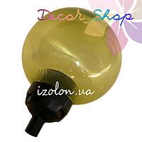 Основание с переходником на трубу D20мм, под плафон,Черный . ТМ Un + Рассеиватель призма UFP-200 зелёный