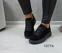 Кроссовки женские,черные,на меху, зимние, фото 1
